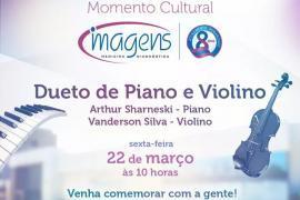 LABORATÓRIO OFERECE DUETO DE PIANO E VIOLINO